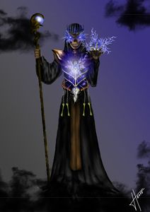 An undead mage