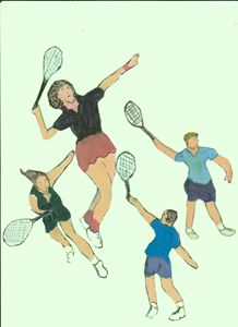 TENNIS GUYS AND DOLLS - ART CREATIONS BY OLGA