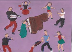 JAZZ MUSIC AND DANCERS
