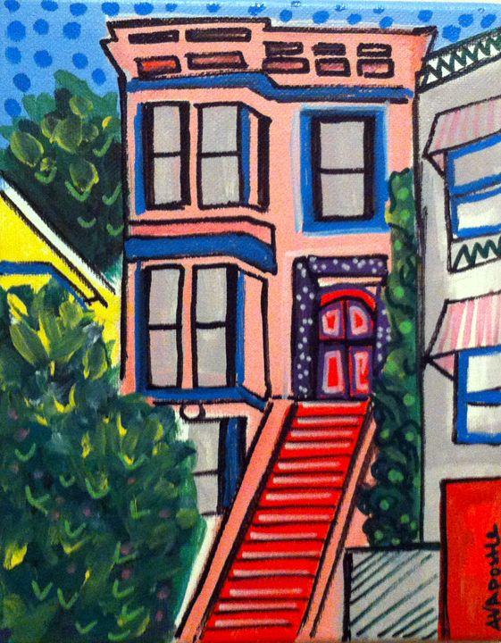 San Francisco Victorian #1 - A.V.Apostle Fine Art