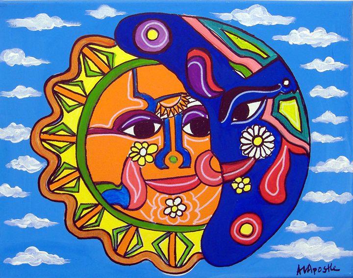 Sun & Moon - A.V.Apostle Fine Art