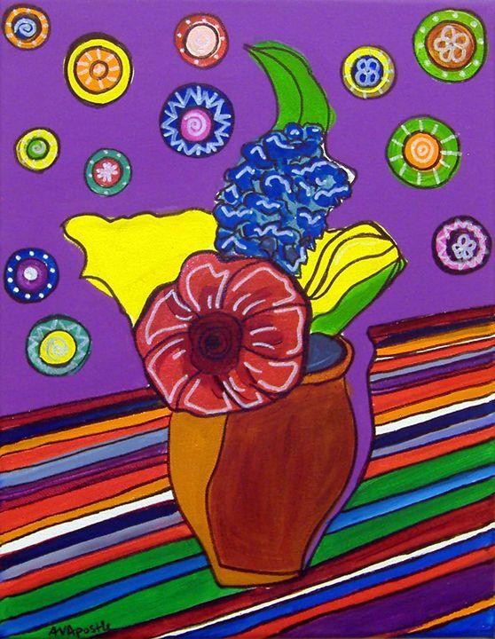 Vase of Flowers - A.V.Apostle Fine Art