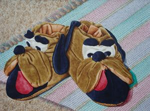 The Old Brown Dog Slippers