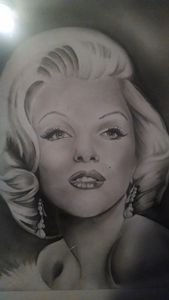 Hand Drawn Marilyn Monroe portrait.