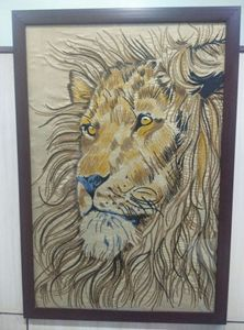 Lion Embroidery Artwork