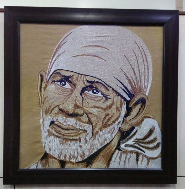 God Saibaba Embroidery Artwork - Anand Solanki