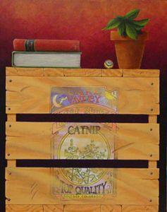 """Catnip""  16""x20"" Acrylic on canvas"