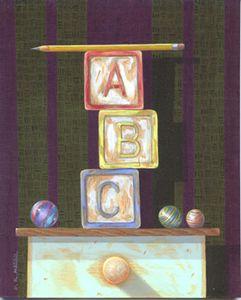 """""""ABC"""" 8""""x10"""" acrylic"""