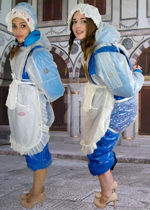 maids - maids in plastic clothes