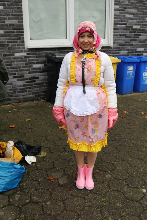 adultbabymaid minjeta welcomes all - maids in plastic clothes