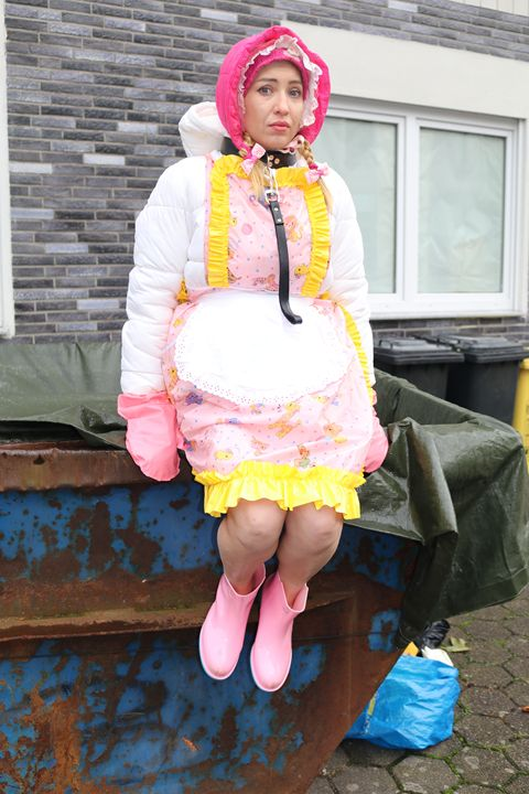 she gets pieces of advice for work - maids in plastic clothes