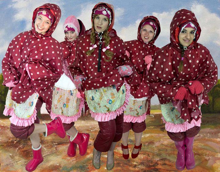 raincape maids - maids in plastic clothes