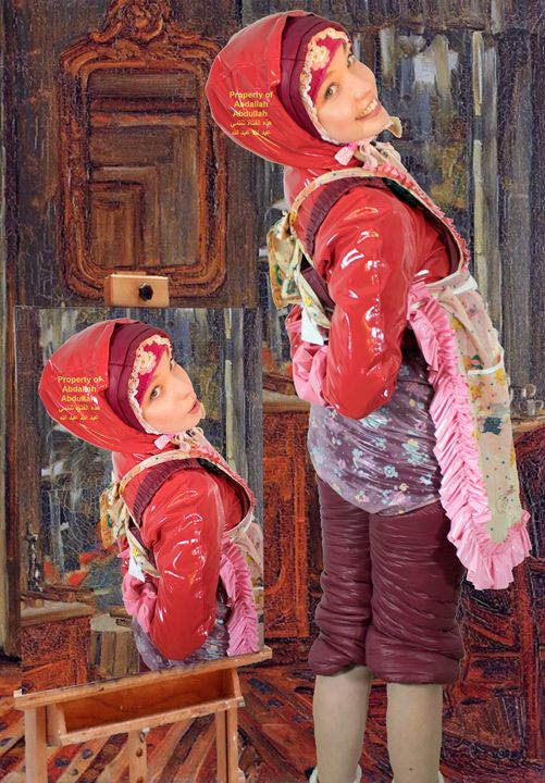 maid dermapadrusnika in red - maids in plastic clothes