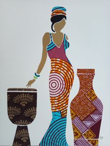 African Fabric Collage 3