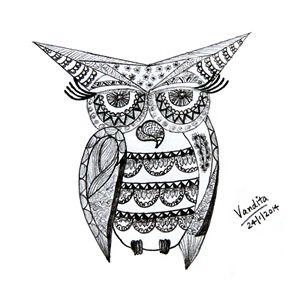 Abstract geometric owl