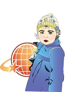 baby girl holding ball