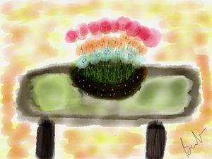 Flower bowl table scape