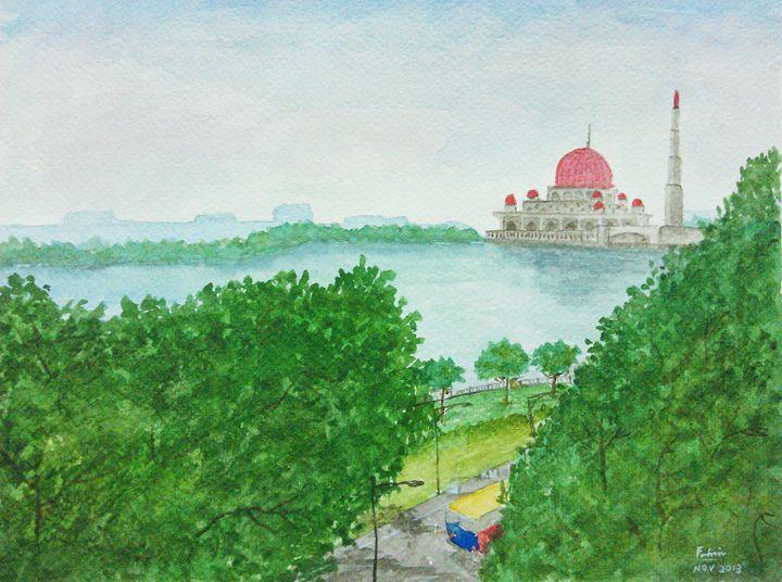 'Masjid Putra, Putrajaya, MALAYSIA' - Watercolour Painting by Mohd Fahmi :)