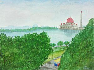'Masjid Putra, Putrajaya, MALAYSIA'