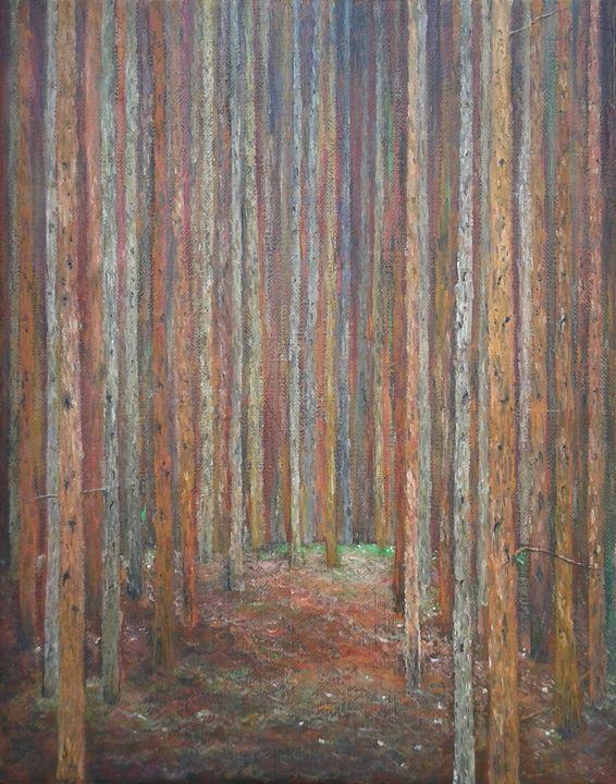 Homage to Klimt pine forest - Emilia Milcheva