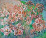 original floral painting on canvas