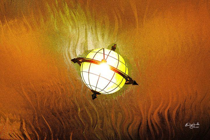 globe - Elizabeth Oliver muddled photography