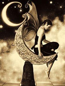 Moon Fairy Sepia