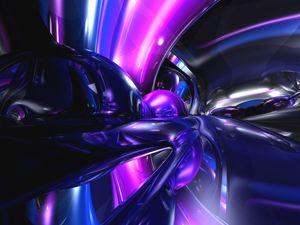 Vivid Waves Abstract
