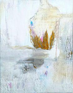 White Meditation, original painting;