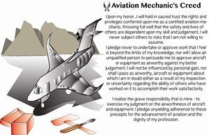 Aircraft Mechanic's Creed