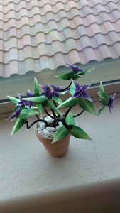 Origami Bonsai Potted Plant Small