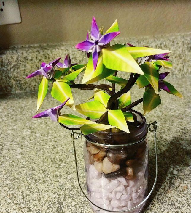 Small Patterned Flower Bonsai - JelliArt
