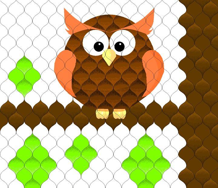 Owl in Tree - Geometry