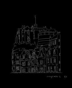 Edinburgh Castle in Black