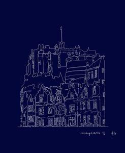 Edinburgh Castle in Blue