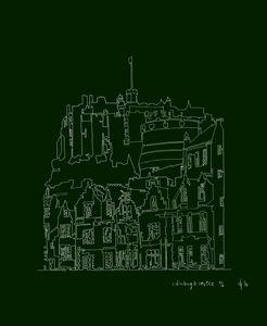 Edinburgh Castle in Green