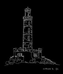 Edinburgh Carlton Hill in Black