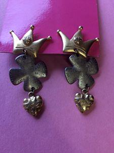 Stud Crown/Clover/Heart Earrings
