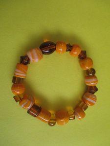 orange Bead Bracelet