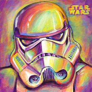 Storm Trooper Painting