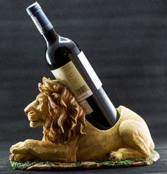 Lion Carved Wine Holder