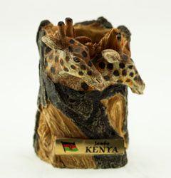Giraffe Carved Penholder