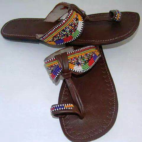Maasai Inspired beaded Sandals - Stramaxstore