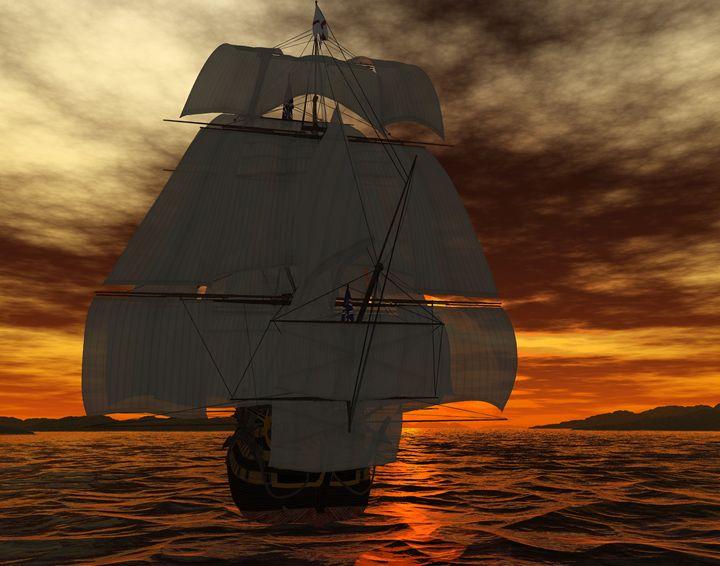 HMS Victory Full Sail - Gene Osburn's Renders