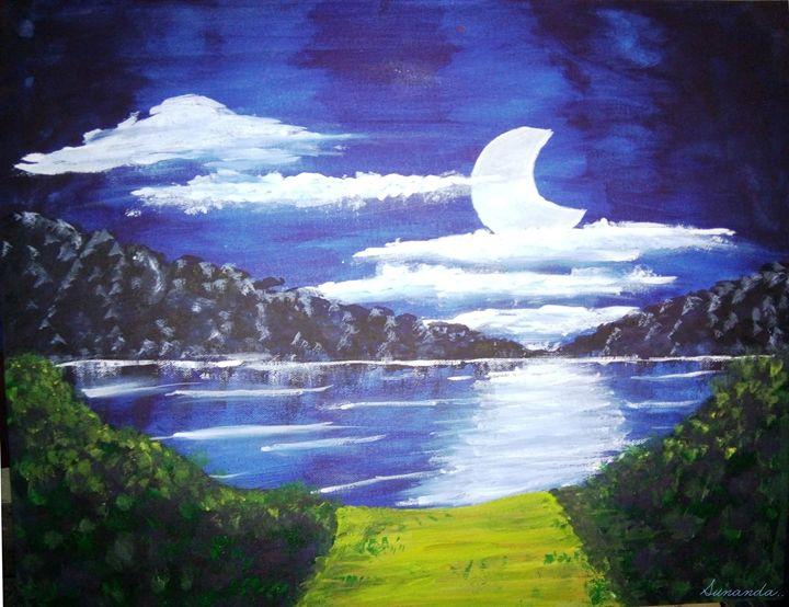 lonely moon - sunanda gupta