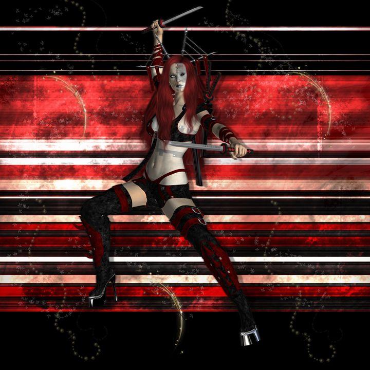 Female Samurai - Kathy Gold Art