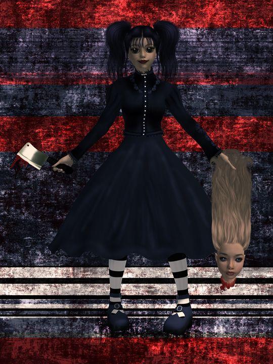 Gothic Girl - Kathy Gold Art