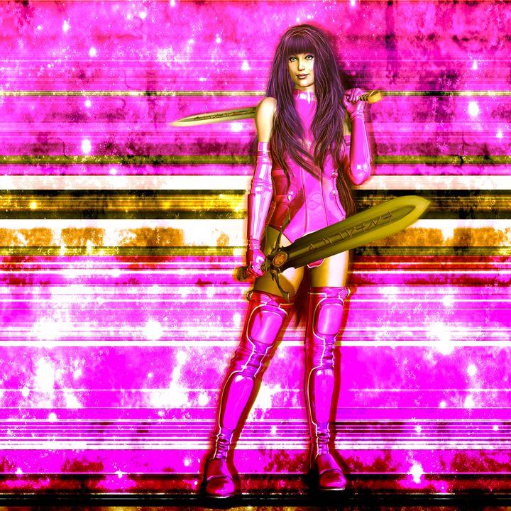 Sci Fi Warrior - Kathy Gold Art