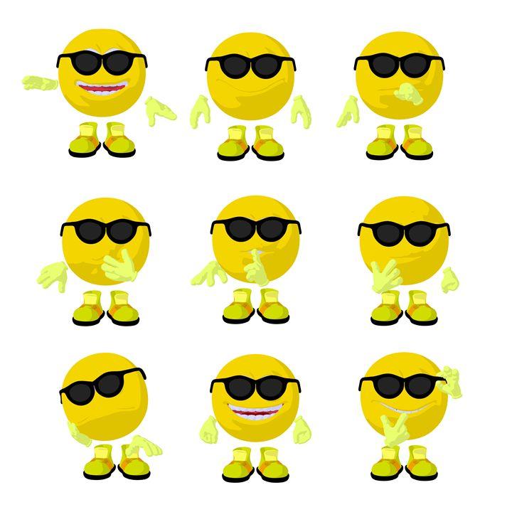 Yellow Emoji - Kathy Gold Art