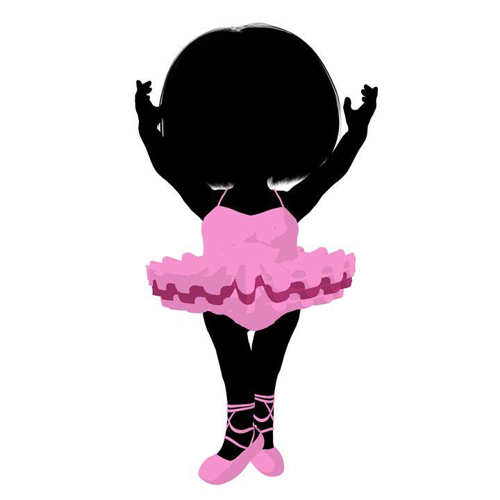 Little Ballerina Girl - Kathy Gold Art